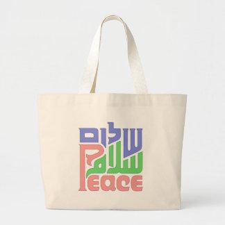 peace jumbo tote bag