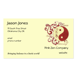 Peace, Balance, Harmony Double-Sided Standard Business Cards (Pack Of 100)