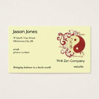 Peace, Balance, Harmony Business Card