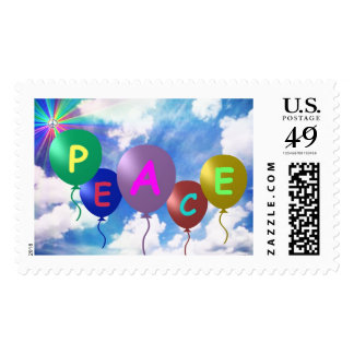 Peace Balloons Stamps