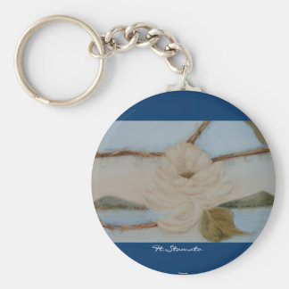 Peace Basic Round Button Keychain