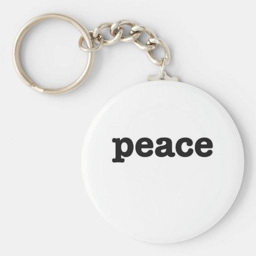 Peace Basic Round Button Keychain