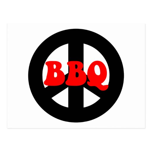 PEACE BBQ POST CARDS