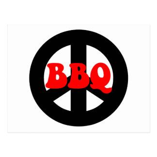 PEACE BBQ POSTCARD