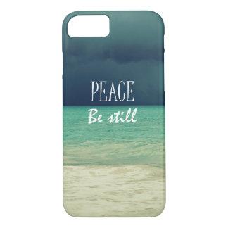 Peace Be Still Bible Verse iPhone 7 Case