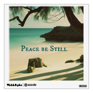 Peace Be Still Bible Verse with Ocean Wall Decal