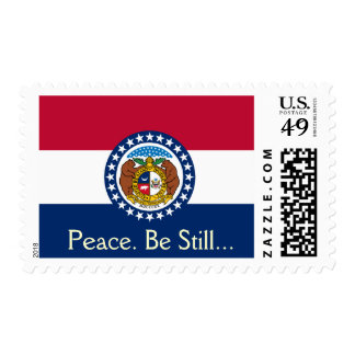 Peace Be Still Missouri State Flag Postage Stamps
