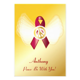 Peace Be With You! AIDS/HIV Heart Disease Ribbon Invite