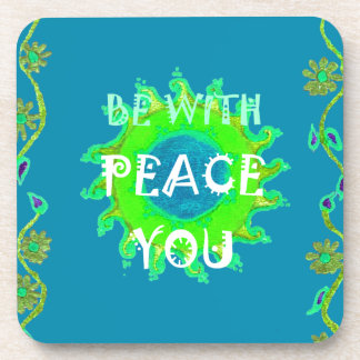 Peace Be With You Always Coaster