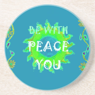 Peace Be With You Always Drink Coaster