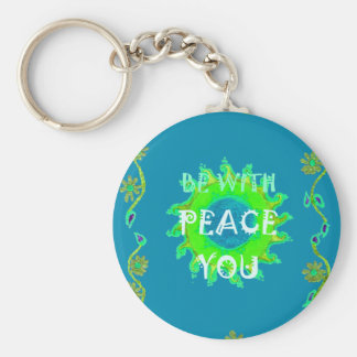 Peace Be With You Always Keychain