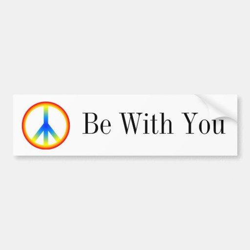 Peace Be With You Bumpersticker Car Bumper Sticker