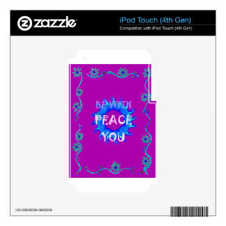 Peace Be With You Decal For iPod Touch 4G