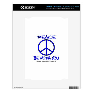 PEACE BE WITH YOU DECALS FOR THE NOOK