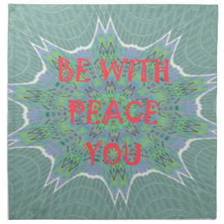 Peace Be With You Inspirational Graphic Art Text Cloth Napkin