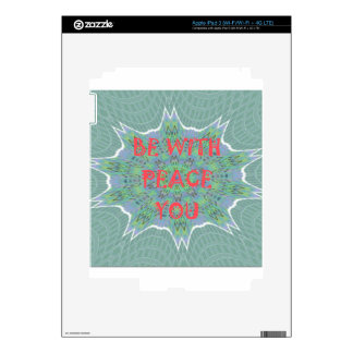 Peace Be With You Inspirational Graphic Art Text Decal For iPad 3