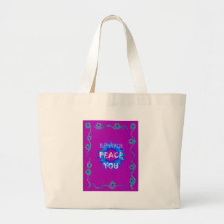 Peace Be With You Large Tote Bag