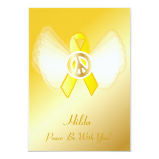 Peace Be With You! Liver Cancer POW/MIA Military S Card