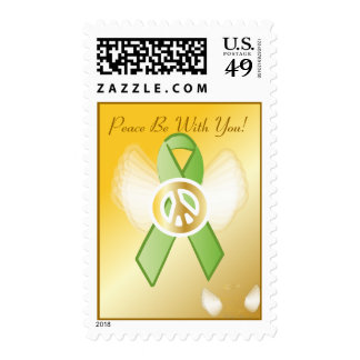 Peace Be With You! Lymphoma Ribbon Postage