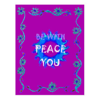 Peace Be With You Postcard
