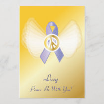 Peace Be With You! Stomach Cancer Ribbon-Customize