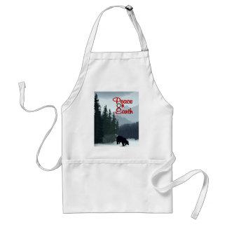 peace bear adult apron