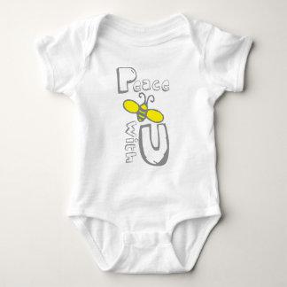 Peace Bee with U Baby Bodysuit