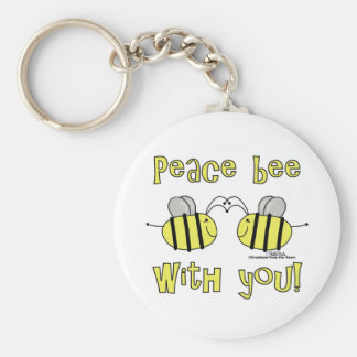 Peace Bee With You Keychains