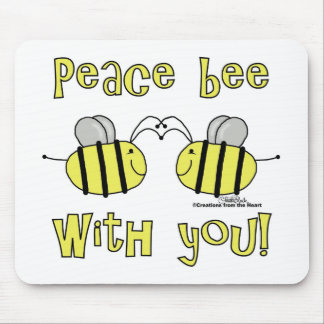 Peace Bee With You Mouse Pad