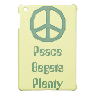 Peace Begets Plenty iPad Case