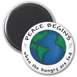 Peace Begins 2 Inch Round Magnet