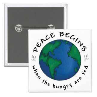 Peace Begins Pinback Button
