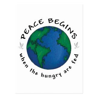 Peace Begins Post Card