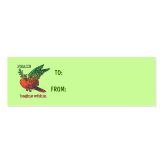 Peace Begins Within Business Card Templates