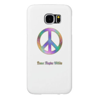 Peace Begins Within Psychedelic Peace Sign Samsung Galaxy S6 Case