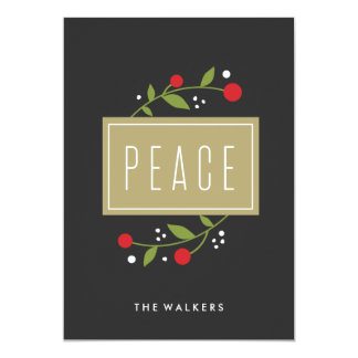 Peace Berries Holiday Greeting Card