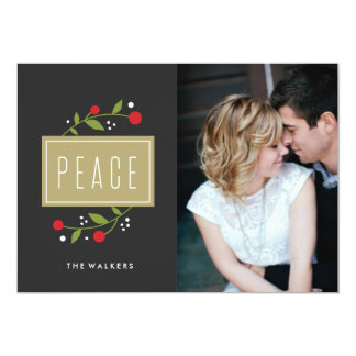 Peace Berries Holiday Photo Card