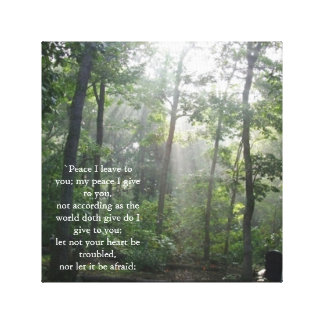 Peace Bible Scripture Wall Hanging Canvas Print