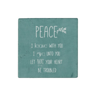 Peace Bible Verse Stone Magnet