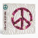 PEACE Binder Portfolio Daisy Zebra Pink
