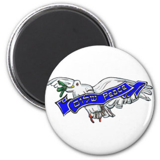 Peace Bird 2 Inch Round Magnet