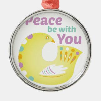 Peace Bird Metal Ornament