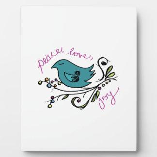 Peace Bird Photo Plaques