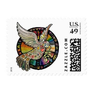 Peace Bird Postage Stamp