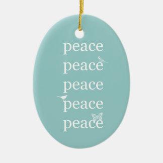 Peace Birds Ceramic Ornament