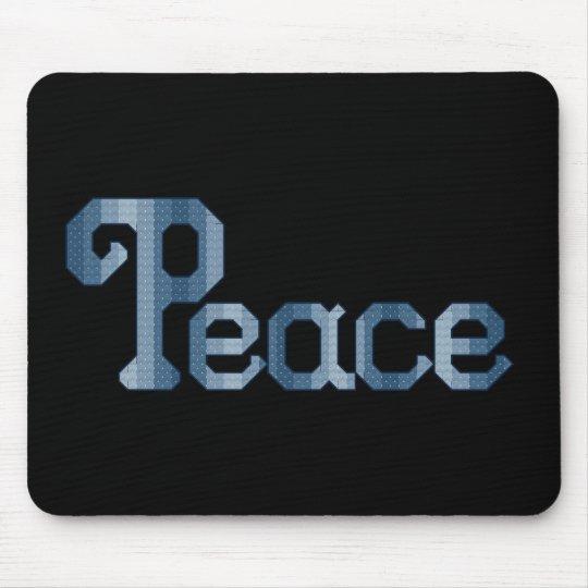 Peace Black Mousepad