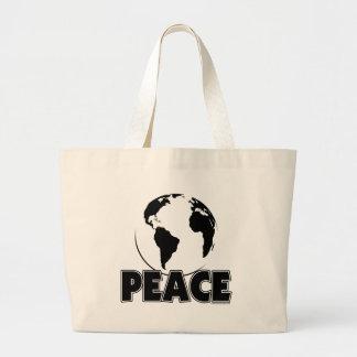Peace Black&White Earth-Light Tote Bag