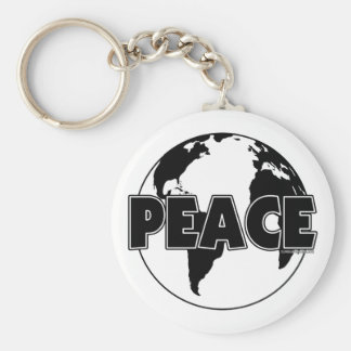 Peace Black&White Earth-Light Keychain