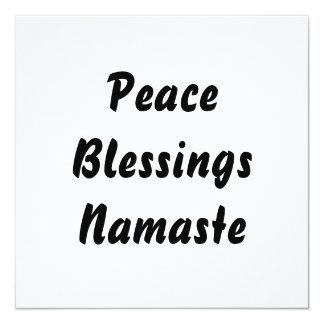 Peace, Blessings, Namaste. Black White Card