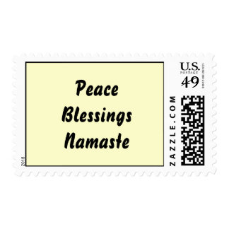 Peace, Blessings, Namaste. Postage Stamps